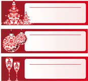 Christmas backgrounds. Christmas banners with holiday greeting decorations Stock Photo