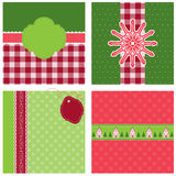Christmas backgrounds. Four nice Christmas backgrounds in red and green colors Stock Image