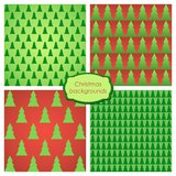 Christmas backgrounds. Vector set of Christmas trees backgrounds Royalty Free Stock Images
