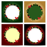 Christmas backgrounds. In four models Royalty Free Stock Photos