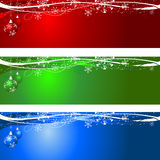 Christmas backgrounds. Decorative Christmas backgrounds with hanging baubles