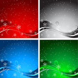 Christmas backgrounds. Various decorative Christmas backgrounds in different colours Stock Photos