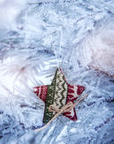 Christmas backgrounds. Christmas decor on the blur background.  Stock Photos