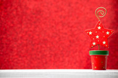 Christmas backgrounds. Christmas decor on the blur background stock images