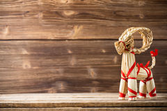Christmas backgrounds. Christmas decor on the wooden background Stock Photo