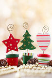 Christmas backgrounds. Christmas decor on the wooden background royalty free stock photography