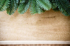 Christmas backgrounds. Christmas decor on the wooden background Royalty Free Stock Image