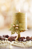 Christmas backgrounds. Christmas decor on the wooden background Royalty Free Stock Photo