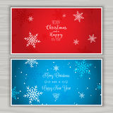 Christmas backgrounds. Decorative Christmas backgrounds with snowflake design Royalty Free Stock Photos