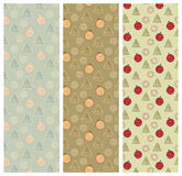 Christmas Backgrounds. Pattern. Set of christmas backgrounds. Pattern included. EPS8 royalty free illustration