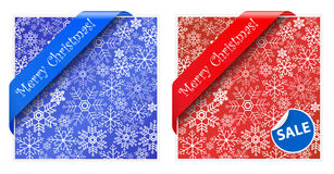 Christmas backgrounds and ribbons Stock Photos