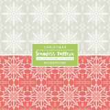 Christmas backgrounds with seamless patterns. Ideal for printing Stock Image