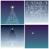 Christmas backgrounds set Stock Photography