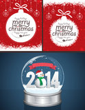 Christmas Backgrounds and Snow Globe Royalty Free Stock Photo