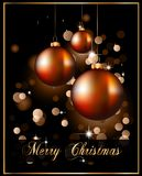 Christmas Backgrounds with Stunning Baubles. Suggestive Elegant Christmas Backgrounds with Stunning Baubles and Glitter elements Royalty Free Stock Photo