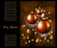 Christmas Backgrounds with Stunning Baubles. Suggestive Elegant Christmas Backgrounds with Stunning Baubles and Glitter elements Royalty Free Stock Photography