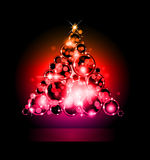 Christmas Backgrounds with Stunning Baubles. Suggestive Elegant Christmas Backgrounds with Stunning Baubles and Glitter elements Stock Photography