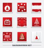 Christmas backgrounds. Tree and gift box. Stock Images
