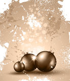 Christmas Backgrounds with Vintage Baubles. Suggestive Vintage Christmas Backgrounds with Stunning Baubles and Glitter elements Stock Images