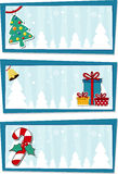 Christmas backgrounds. For your designs, decoration or gift tags Royalty Free Stock Photo