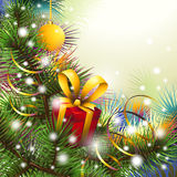 Christmas backgroung with present Royalty Free Stock Photo