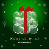 Christmas backround with balls Stock Photography