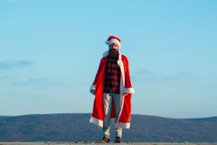 Christmas bad santa outdoor Stock Images