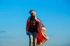 Christmas bad santa outdoor Royalty Free Stock Images
