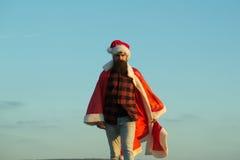 Christmas bad santa outdoor Stock Photos