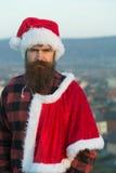 Christmas bad santa outdoor Royalty Free Stock Photography