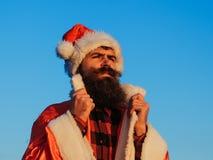 Christmas bad santa outdoor Royalty Free Stock Photos