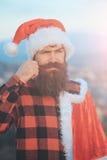 Christmas bad santa outdoor Stock Image