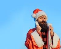 Christmas bad santa outdoor Royalty Free Stock Photo