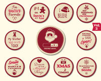 Christmas Badge and Design Elements  Royalty Free Stock Images