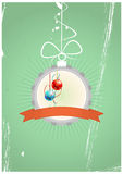 Christmas badge Stock Images