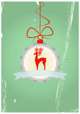 Christmas badge Royalty Free Stock Photos