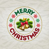 Christmas Badge Stock Photo