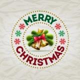 Christmas Badge Stock Photo