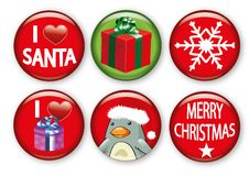 Christmas badges Stock Photo