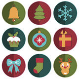 Christmas badges Stock Images