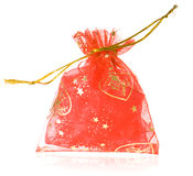 Christmas bag. Isolated on a white background Royalty Free Stock Photo