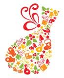 Christmas bag stock illustration