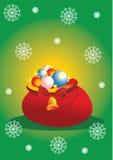 Christmas bag Stock Images