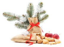 Christmas bag biscuits. Royalty Free Stock Images