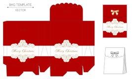 Christmas bag design Stock Photos