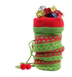 Christmas bag with gifts Royalty Free Stock Photography