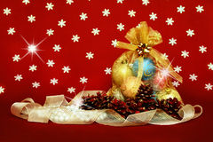 Christmas bag Royalty Free Stock Images