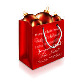 Christmas Bag isolated on white background Royalty Free Stock Photos