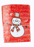 Christmas bag with snowman. On white background stock illustration