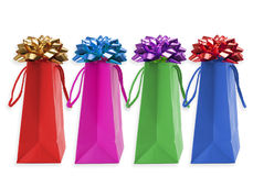 Christmas Bags. Four Christmas bags ready to give away Royalty Free Stock Images
